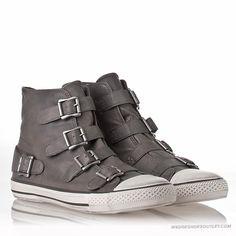 ASH Shoes Mens Stone Leather Vincent Sneaker