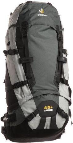Deuter Guide 45+ (Anthracite/Silver) by Deuter. $143.16. Whether you're powder-hunting in the backcountry, dry-tooling through an alpine crux, or even just cragging for the day, the new Guide series can take a beating. The slim shape and body-hugging fit of these packs provide complete carry control, even over difficult terrain. And with their ergonomically shaped, flexible Vari Flex hip belts, there is added freedom of movement.. Save 20% Off!