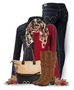 """""""Untitled #2628"""" by sherri-leger ❤ liked on Polyvore featuring Levi's, LE3NO, Nude, Bliss Studio, Burberry, Cesca, Easy Street and Nordstrom"""