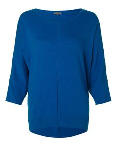 Cotton Viscose Dropped Hem Sweater