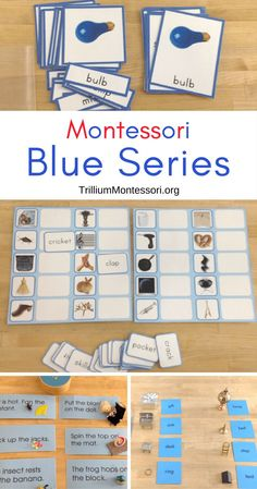 Montessori reading activities for working with longer phonetic words. These are often referred to as the Blue Series activities. You are in the right place about Montessori Activities Here we offe Montessori Kindergarten, Montessori Practical Life, Montessori Homeschool, Montessori Elementary, Montessori Classroom, Preschool Learning Activities, Montessori Toddler, Reading Activities, Teaching Reading