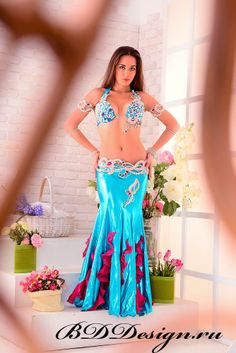 Gorgeous professional belly dancer costume