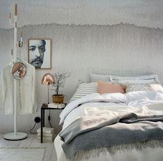 Modernt skandinaviskt sovrum
