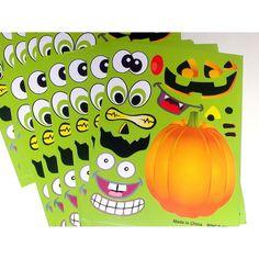 $4.29For:12 Make a Pumpkin Jack-o-Lantern Halloween Sticker Sheets ~ 240 Stickers ~ NEW #RI