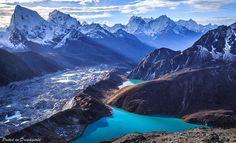 Lago Gokyo , del parque nacional de Sagarmatha, Nepal