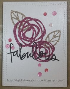 Fabulous Card from the Heidi's Imaginarium blog for the #EllenHutsonLLC #MixItUpChallenge. @prettypinkposh #BoldBlooms #TotallyFabulous