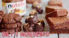 3-Ingredient Nutella Recipes: Brownies, Cookies & Truffles! - YouTube