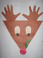 Cute Christmas craft- reindeer with hands