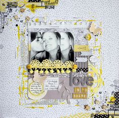 by Paula Castells Scrap & Music: Sketch #1 - Here, There and Everywhere...