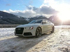 Audi living it up in snow