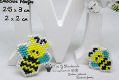 """4 Likes, 1 Comments - Accesorios hechos a mano (@mirighandmade) on Instagram: """"#broches #brooch #abejas #bee #beads #beadwork #socute #hechoamano #handmadejewelry"""""""