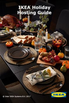 Tis the season for celebration! Get inspired by IKEA products. The IKEA holiday Thanksgiving Table Settings, Holiday Tables, Thanksgiving Crafts, Thanksgiving Decorations, Seasonal Decor, Fall Decor, Christmas Decorations, Table Decorations, Centerpieces