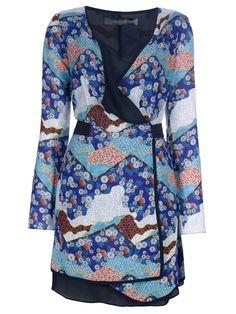 Proenza Schouler Wrap Print Dress - Dell'oglio - farfetch.com