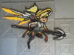 Overwatch Mercy Perler by TehMorrison on DeviantArt