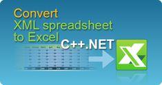 Convert XML Spreadsheet to Excel file in C++.NET from ASP.NET web pages or windows application by EasyXLS library! XLSX, XLSM, XLSB, XLS. #EasyXLS #Convert #XML #Spreadsheet #Excel #CPPNET Files In C, Php Tutorial, Filing, Html, Tutorials, Windows, Ramen, Wizards, Window