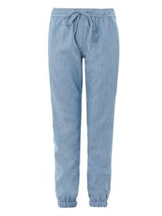 3X1 Relaxed chambray trousers MATCHESFASHION.COM #MATCHESFASHION