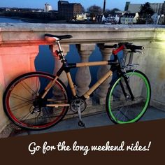 Nothing compares to the simple pleasure of riding bike! A beautiful build by Bamboo Bicycle, Bicycle Quotes, Bicycling, Simple Pleasures, Long Weekend, Building, Beautiful, Cycling