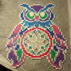 Owl dreamcatcher perler beads  by slams_
