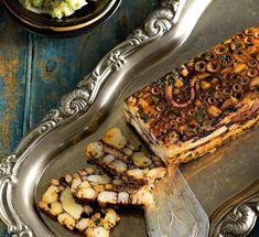 Australian Gourmet Traveller Spanish recipe for terrina de pulpo (Octopus terrine) by Frank Camorra from MoVida restaurant in Melbourne.