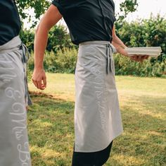 Personalised Aprons for your special day at #jual #personalisedwedding #wedding ❤️ £11.99 available in a range of colours! contact olivia@jual.co.uk for more details