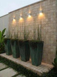 Super Ideas For Exterior Landscape Lighting Pathways Outdoor Garden Lighting, Outdoor Walls, Outdoor Gardens, Pathway Lighting, Backyard Patio, Backyard Landscaping, Landscape Lighting Design, Design Exterior, Wall Exterior
