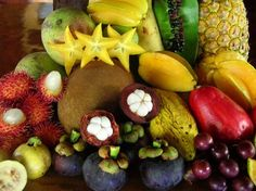 exotic fruits, yum.