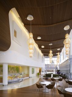 Lipse Chairs and Veer Tables in the Randall Children's Hospital in Portland, OR - designed by ZGF Architects