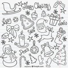 Conjunto de bocetos de Navidad