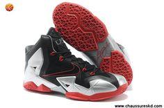 usine Noir Argent Rouge Nike LeBron 11 Femmes