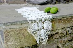 Crochet Doily Table Runner. Vintage. Off by NorthMajestyTrail
