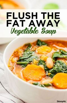 Our Flush the Fat Away Vegetable Soup is an instant classic. Packed to the brim with antioxidants an&; Our Flush the Fat Away Vegetable Soup is an instant classic. Packed to the brim with antioxidants an&; Fat To […] drinks for weightloss fat flush Vegetarian Recipes, Cooking Recipes, Healthy Recipes, Healthy Meals, Healthy Weight, Veggie Soup Recipes, Vegetarian Italian, Snacks Recipes, Diet Snacks