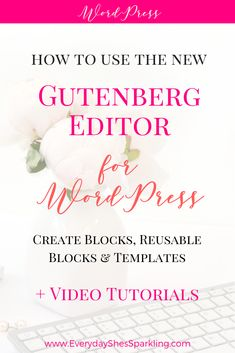 Have you installed WordPress and the new Gutenberg block style editor yet? This post with video tutorial, explains how to create blocks, reusable blocks and reusable templates. Make Money Blogging, How To Make Money, Money Tips, Learn Wordpress, Wordpress Plugins, Ecommerce, Making Words, Thing 1, Branding