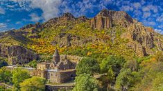 Monastery of Geghard, Armenia (© traumlichtfabrik/Getty Images) Bing Backgrounds, Medieval World, Smoky Mountain National Park, Locked Wallpaper, Chapelle, Great Smoky Mountains, Most Visited, Nature Reserve, World Heritage Sites