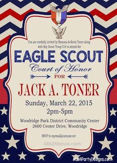 eagle scout court of honor invitations - Google Search
