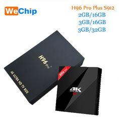 US $50.28 Original H96 Pro Plus android smart tv box 7.1 Amlogic S912 Octa Core 3G/32G dual wifi BT4.1 4 K H96pro + PK X96 Medios jugadores #Original #Plus #android #smart #Amlogic #Octa #Core #dual #wifi #Medios #jugadores