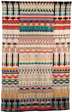 A tapestry by Gunta Stölzl, a German textile artist who helped develop the Bauhaus' weaving workshop