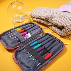 Quality45 Pcs Crochet Needle Hooks Set Organiser Case Accessories Tapestry Craft Knitting Kit Craft Tools - NewChic Mobile