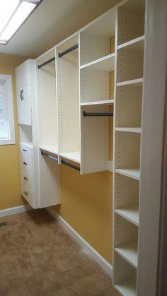 White Melamine Closet