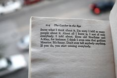 first crush on a fictitious character.  Holden Caulfield.