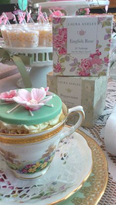 Vintage party theme for a tea party or girls birthday party. Love the frills, lace and victorian style.