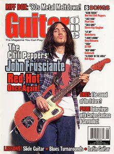 John Frusciante on Guitar One Cover 1999