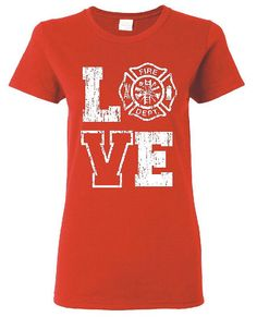 Love Firefighter Distressed Print with the Maltese by GenesisInk