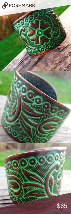 Spotted while shopping on Poshmark: HP🎉 Vintage Bronzed Copper Wide Cuff Bracelet! #poshmark #fashion #shopping #style #Vintage #Jewelry