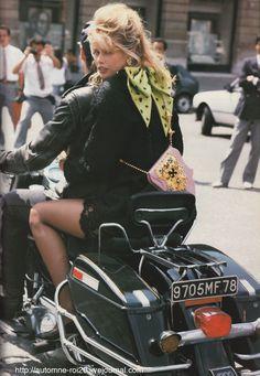 Vogue's Eye View - Paris Couture I Vogue Uk I October 1989 I Model: Claudia Schiffer I Photographer: Herb Ritts I Editor: Sarajane Hoare.