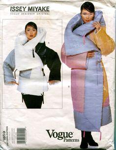 1990s ISSEY MIYAKE COAT Pattern Vogue by DesignRewindFashions