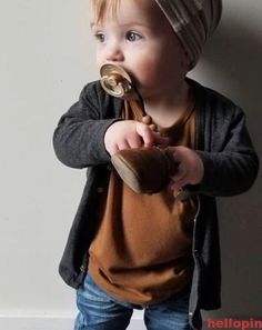 Baby Clothes, Toddler Fashion, Pacifier Clips - The cutest baby with our Pacifier and Soother Clip! Baby Outfits, Toddler Boy Outfits, Toddler Boys, Baby Kids, Toddler Boy Style, Toddler Chores, Baby Baby, Cute Baby Boy, Cute Baby Clothes