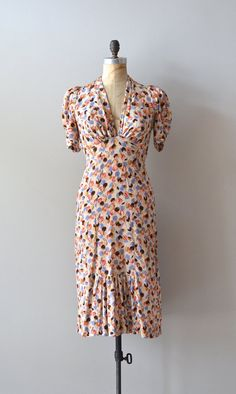 vintage 1930s silk dress