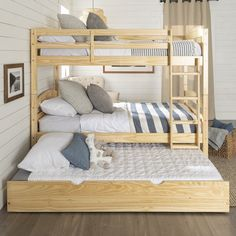 Cabin Bunk Beds, Bunk Beds For Boys Room, Bunk Bed Rooms, Beds For Small Rooms, Bunk Beds Built In, Bunk Bed With Trundle, Adult Bunk Beds, Bunk Beds For Adults, Boy Bunk Beds