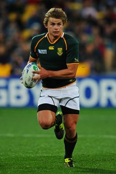 Pat Lambie Pictures - South Africa v Fiji - IRB RWC 2011 Match 15 - Zimbio Best Rugby Player, Rugby Players, Rugby Pictures, South African Rugby, Cricket Sport, Sport Icon, Rugby World Cup, Rugby League, Sporty Girls