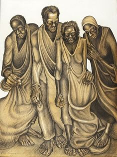 john biggers art | John Biggers, Cotton Pickers, 1947, purchased with funds provided by ...